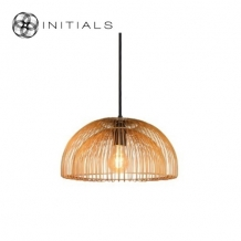 Hanging Lamp Dome  Iron Wire Gold