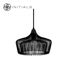 Hanging Lamp Small Moire Factory Iron Wire Black