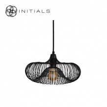 Hanging Lamp Small Moire Ufo Iron Wire Black