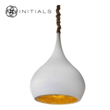 Hanging Lamp Drop Shape  White Gold