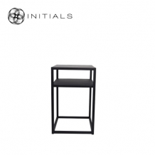Bed Side Table Metro 2 Raw Iron Black