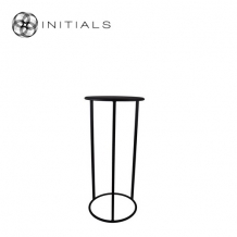 Table Skyline Raw Iron Black Round