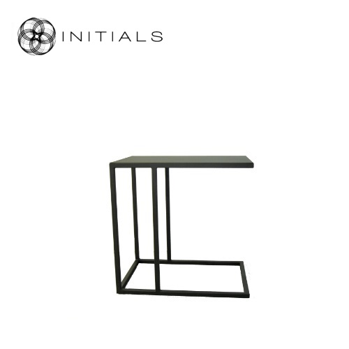 Bench Table High Iron Structure Matt Black With Connected Plate
