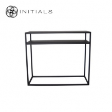 Storage Table Broadway 2 Iron  Raw Black