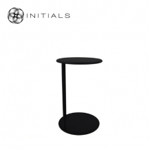 Bench Table Round NEW Iron Structure Matt Black With Connected Plate