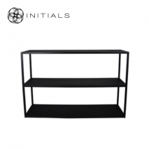 Storage Table Broadway 3 Iron  Raw Black