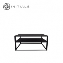 Storage Table Metro 2 Iron Raw Black