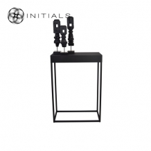 Side Table Boulevard Raw Iron Black