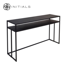 Desk/ Side Table Broadway 2 Raw Iron Black