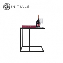 Bench Table Metro Smoke glass Iron Black Rectangular