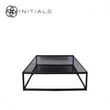 Coffee Table Metro Smoke glass Iron Black