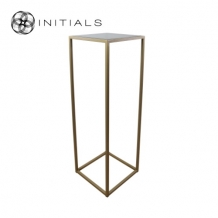 Table Skyline Smoke glass Iron Gold Square