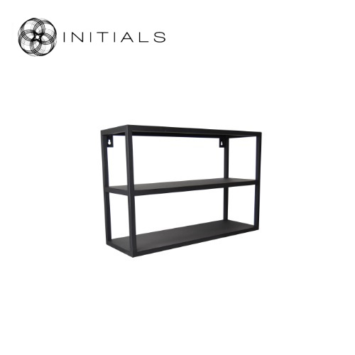 Hanging Cabinet Iron Structure Matt Black 3 Shelves