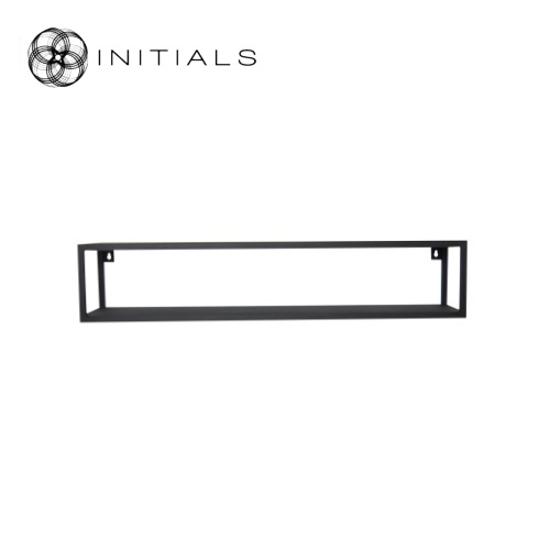 Hanging Cabinet Iron Structure Matt Black 2 Shelves