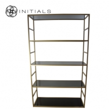 Cabinet 5 Smoke glass Iron Gold