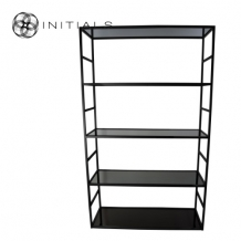 Cabinet 5 Smoke glass Iron Black