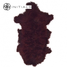 Carpet Sheepskin Wine Bordeaux