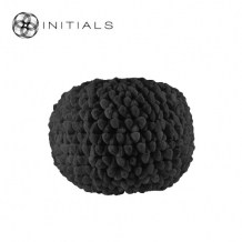 Poof Round Penthouse Pebble Dark Graphite