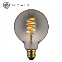 Light Bulb Globe Led Spiral DimmableTitanium/smoke glass