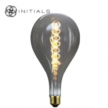Light Bulb XXL Led Spiral DimmableTitanium/smoke glass