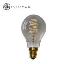 Light Bulb Led Spiral 3 settings Titanium/smoke glass