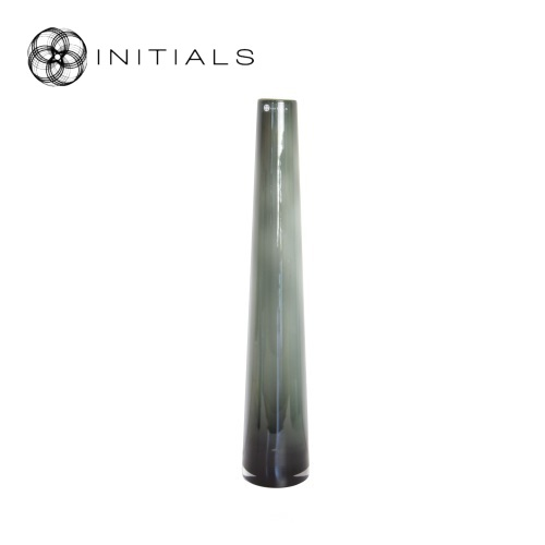 Vase Stretch Smoke Glass Low