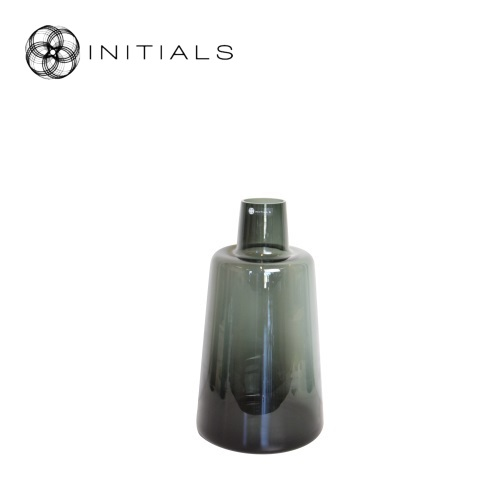Vase Bottle Smoke Glass Middle