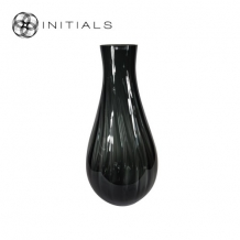 Vase Bellied OPTIC Smoke Glass