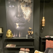 Walldecoration Face Gold Foil  Matt Aluminum
