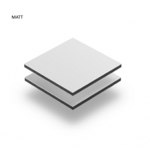 Walldecoration Flower Look Down Matt Aluminum
